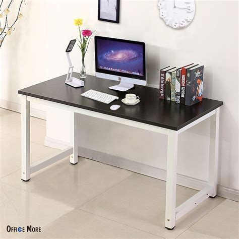home office table desk wood black computer desk pc laptop table workstation study