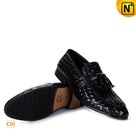 mens leather tassel loafers black woven tassel loafers for cw750067