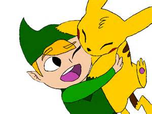 link color colors link and pikachu by cavyspirit on deviantart