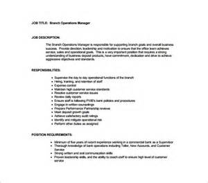 business manager description template 10 operation manager description templates free