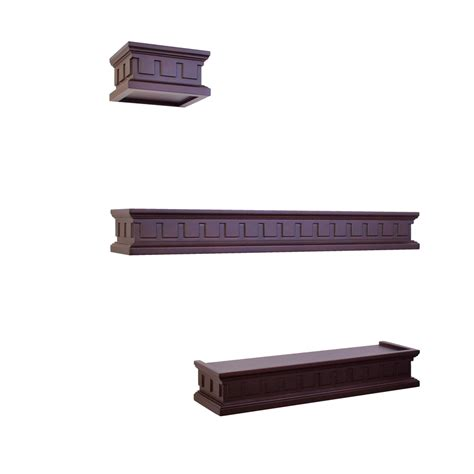 lowes wood shelving shop allen roth 24 25 in wood wall mounted shelving at