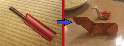 How To Make A Desk Out Of Paper - origami at the dinner table how to make cranes and