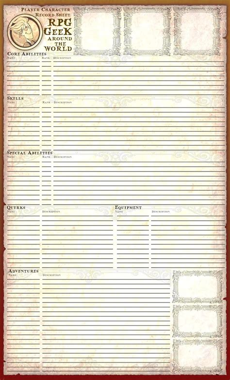 thesweethome best sheets 10 best images about rpg character sheets on pinterest