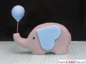 elephant and balloon fondant topper how to cake that