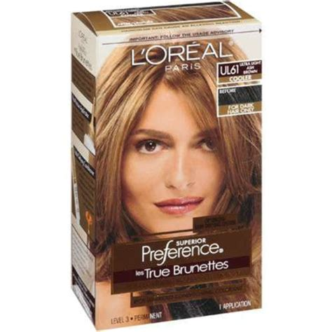 light ash brown hair color oreal preference les true brunettes ul 61 ultra light ash