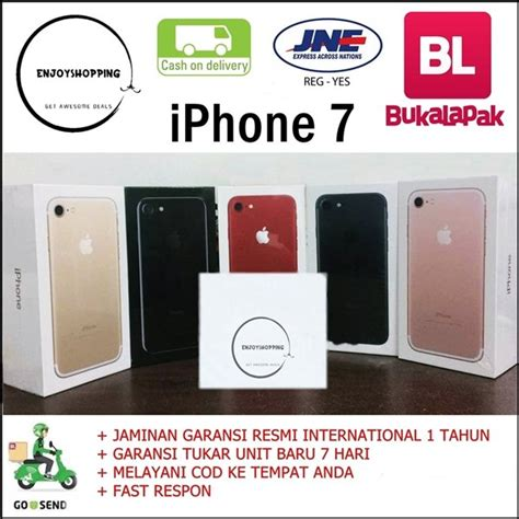 Murah Ready Stock Bnib Iphone 256gb 7 Silver Garansi Apple 1 Tahun jual iphone 7 256gb silver bnib di lapak enjoyshopping