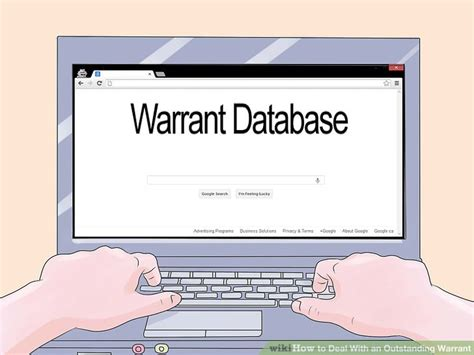 check bench warrants online how to deal with an outstanding warrant 11 steps with pictures