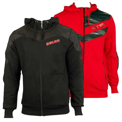 Hoodiezipper Ducati Corse 1 mens ducati fleece hoody zip sweat jacket hoodie hooded sweater top ebay