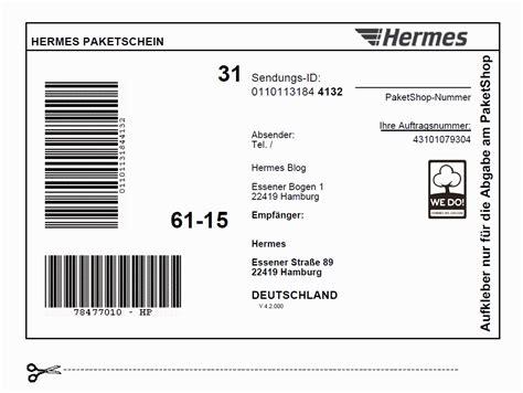 Paketaufkleber Drucken Vorlage by Paketschein Hermes