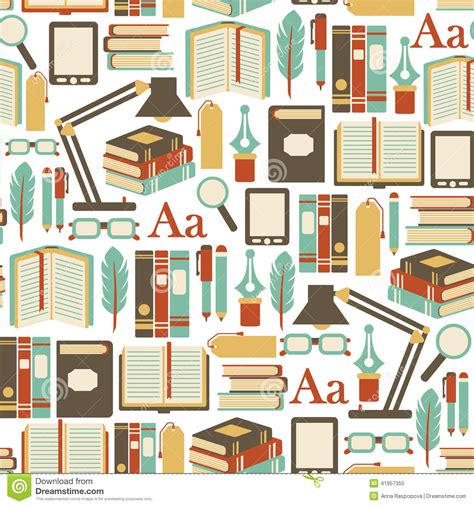 Book Of Pattern books pattern stock vector illustration of author