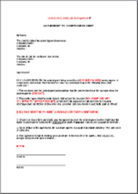 Compromise Agreement Letter Template Agreement To Compromise Debt En