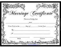 Wedding Album Book Free Fancy Printable Marriage Certificates Templates