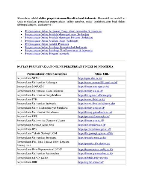 Daftar Maskara Di Indo dibawah ini adalah daftar perpustakaan di seluruh indonesia