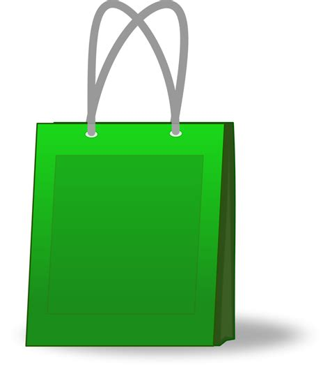 shopping bags shopping bag free stock photo illustration of a green