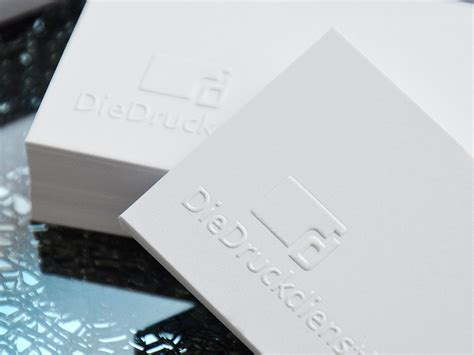 Visitenkarten Edel by Edle Visitenkarte Mit Blindpr 228 Gung Drucken Schnell