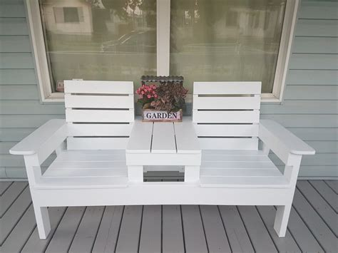 ana white diy double chair bench  table diy projects