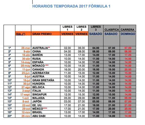 Calendario G P Formula 1 F 243 Rmula 1 Conoce Todos Los Horarios De Los 20 Gp De