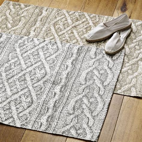 west elm cable rug cable knit printed rug west elm