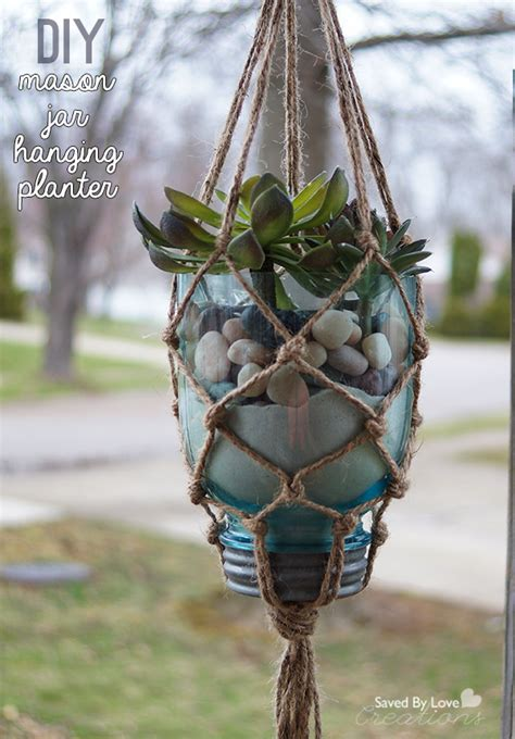 How To Make A Macrame Hanging Planter - diy macrame jar hanging planter