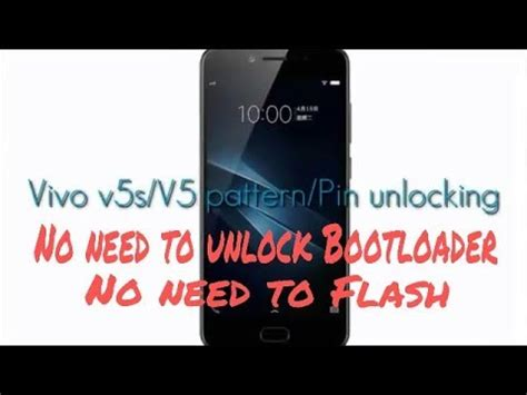 pattern lock in vivo y53 how to unlock vivo v5 v5s pattern pin lock in miracle box