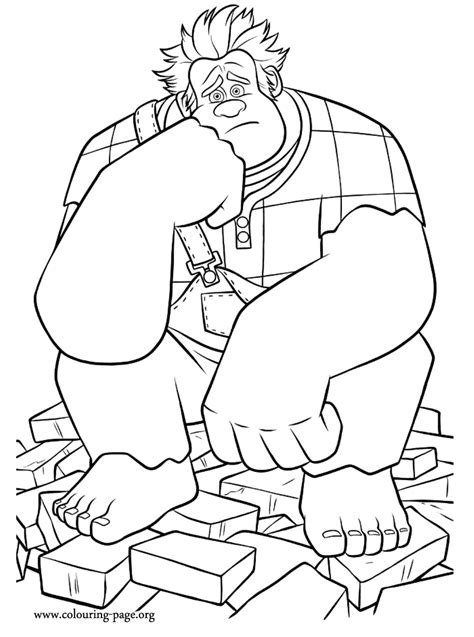 coloring pages wreck it ralph wreck it ralph disney s wreck it ralph coloring page