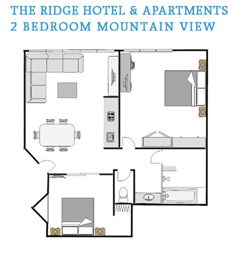 2 bedroom apartments in mountain view ca 2 bedroom mountain view floor plan the ridge hotel and