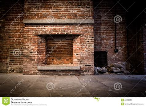 Outdoor Fireplace Plan - brick fireplace background stock photography image 22592132
