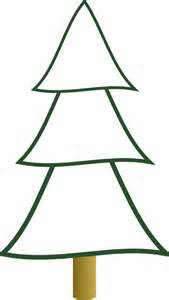 outline christmas tree 3 layers clip art at clker com