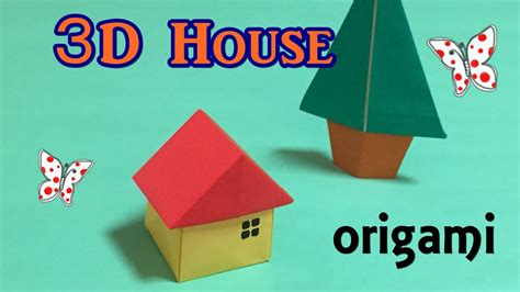 origami tutorial house origami house 3d easy for beginners how to make a paper