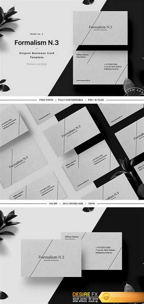Desire Fx Cm Formalism Business Card Template 1357221 Bourne Identity Style Free After Effects Template
