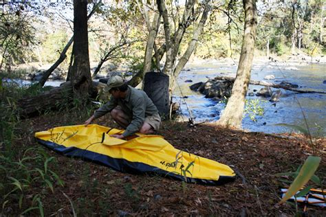 folding boat backpack k pak folding boat unfolds from a backpack in minutes