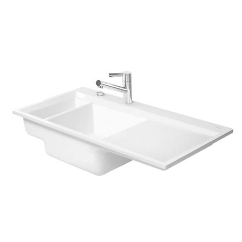 Flush Kitchen Sink Duravit Kiora Kitchen Sink Flush Mounted 60 751910