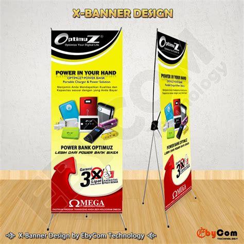 design x banner distro jasa pembuatan desain x banner untuk promosi pameran