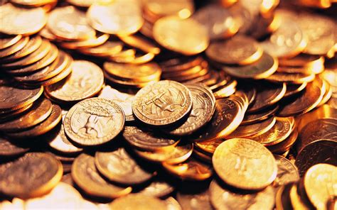 wallpaper gold coins coin full hd wallpaper and background image 2560x1600