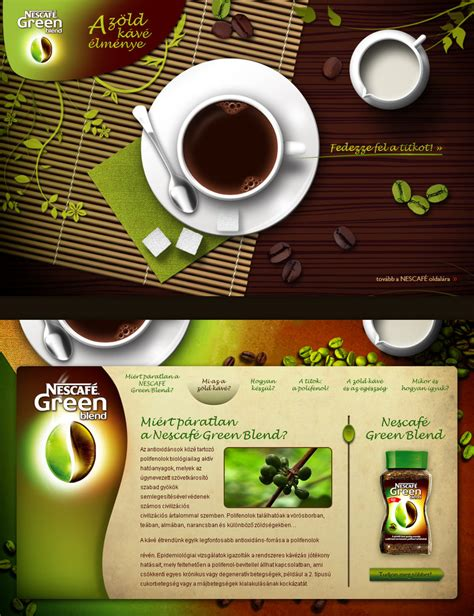 Nescafe Green Coffee nescafe green blend promo site by floydworx on deviantart