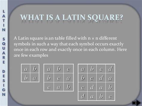 latin square experimental design snehal latin square design rm seminaar