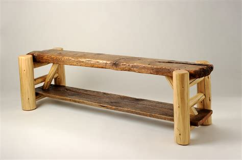 rustic bench rorys rustic furniture