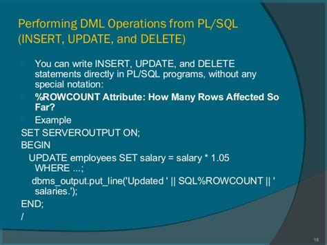 How To Write Program On Dml Operations Using Pl Sql | how to write program on dml operations using pl sql