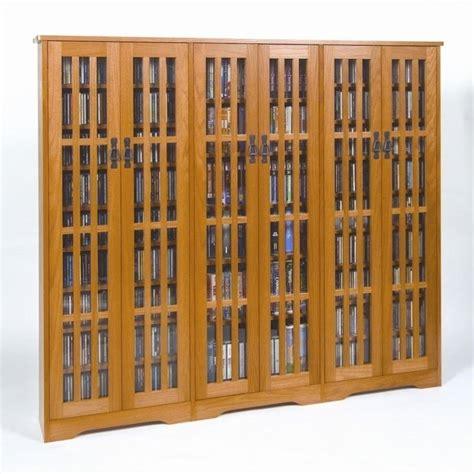 Media Storage Cabinet With Doors Leslie Dame Cd Dvd Wall Rack Media Storage W Slat Dr Fronts Oak Ebay