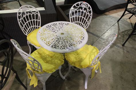 small patio table and 4 chairs small white patio table with 4 chairs able auctions