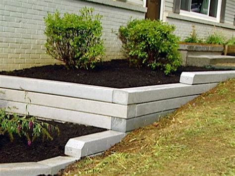 Installing Landscape Timbers On A Slope How To Install A Timber Retaining Wall Hgtv