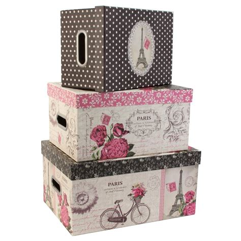 home decor storage boxes tri coastal design set of 3 nesting storage box steamer