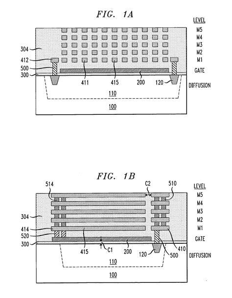 mos capacitor layout patent us20060024905 metal capacitor stacked with a mos capacitor to provide increased