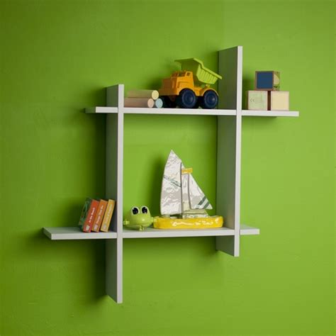 Square Floating Shelf by Buy Asymmetric White Laminate Square Floating Wall Shelf