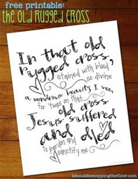 printable christian lyrics free easter cross templates for cards easter craft poem