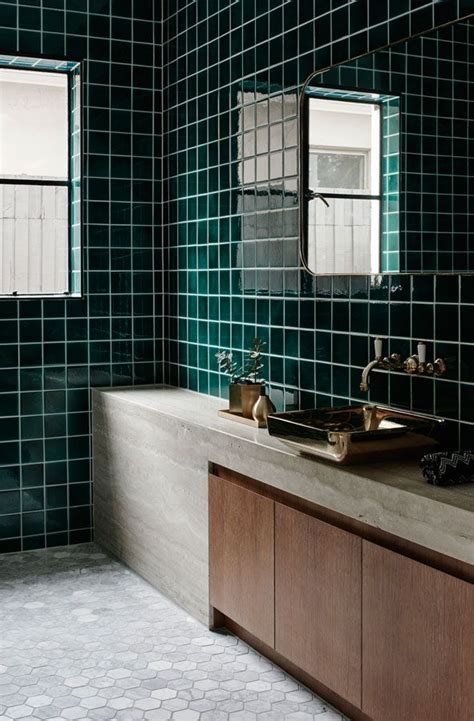 dark green bathroom tiles best 25 green tiles ideas on pinterest green kitchen