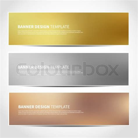header design price set of gold silver bronze vector banners templates or