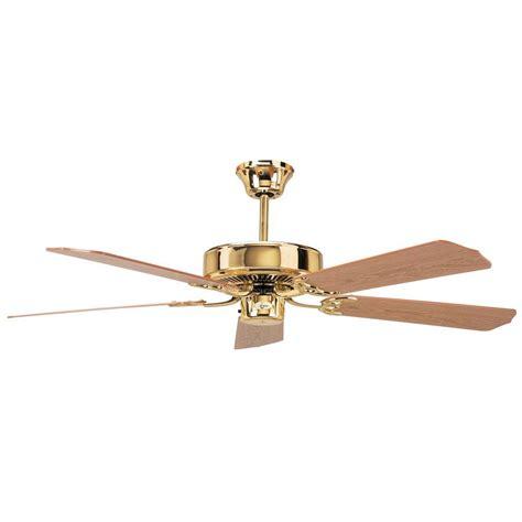 high tech ceiling fan radionic hi tech calli 52 in polished brass ceiling fan