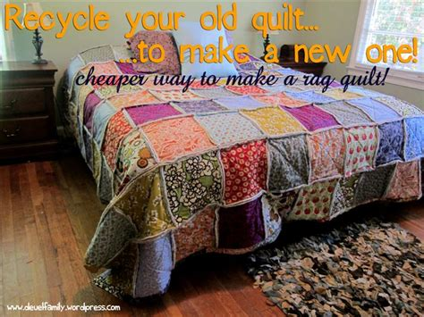 king size rag quilt the deuel family