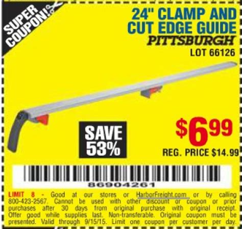 Cut Arts Discount 25 by Harbor Freight Tools Coupon Database Free Coupons 25